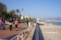 A section of the beach alongside the Promenade des Anglais has been selected