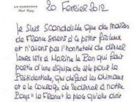 Brigitte Bardot's letter in Nice-Matin