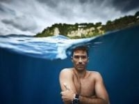 Guillaume Nery underwater photograph