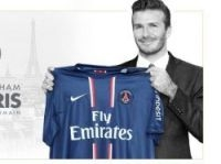 David Beckham on the PSG website front page