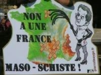 Shale gas protests (here at Cahors) forced ban on fracking - Photo: Peter Kampman