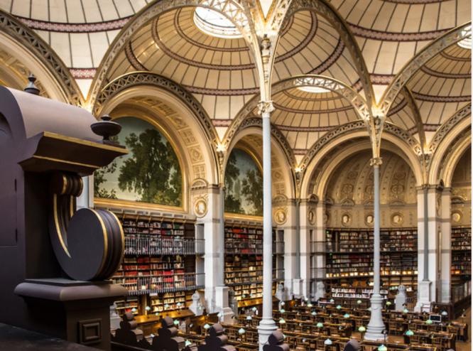 The Bibliothèque de l'INHA-Salle Labrouste © Laszlo Horvath