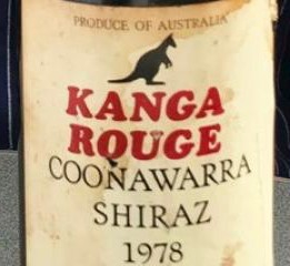 A bottle of 1978 Kanga Rouge. Photo from Connexion September print edition. Photo: Michael Delahaye
