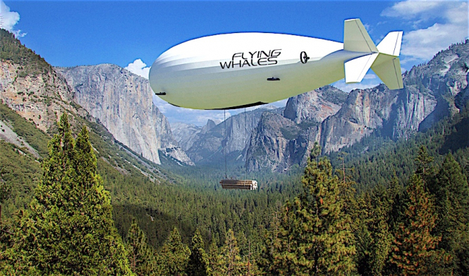 A Flying Whales airship in action. Photo by Flying Whales.
