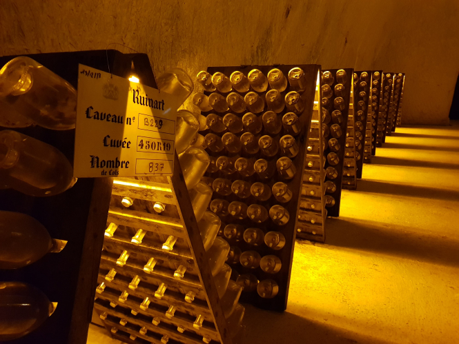 Champagne Ruinart cellar in Reims