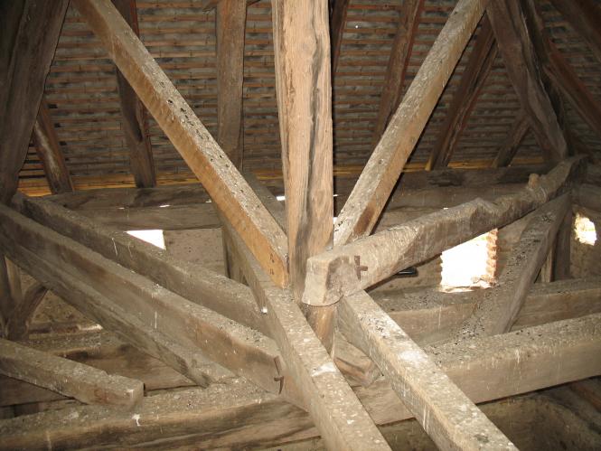 Charpente in a church belfry