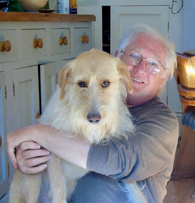 Chris Slade with his dog Rudy