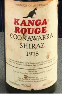 Close up of Kanga Rouge label on bottle. Photo from Connexion September print edition.