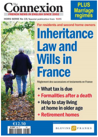 Connexion helpguide front cover: Inheritance Law and Wills in France