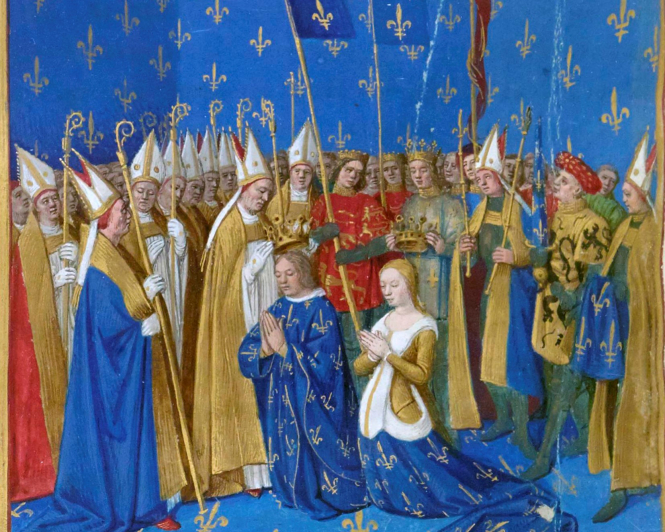 Coronation of Louis VIII and Blanche of Castille