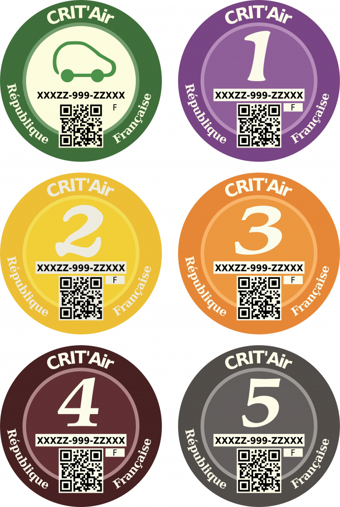 Crit'air stickers