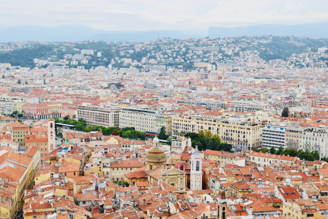 EasyJet has announced it is relaunching French domestic flights from Nice. Photo taken from Parc du Chateau, Nice, France