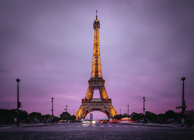 Eiffel Tower, Paris, France, one of France's defining institutions. Denys Nevozhai / Unsplash