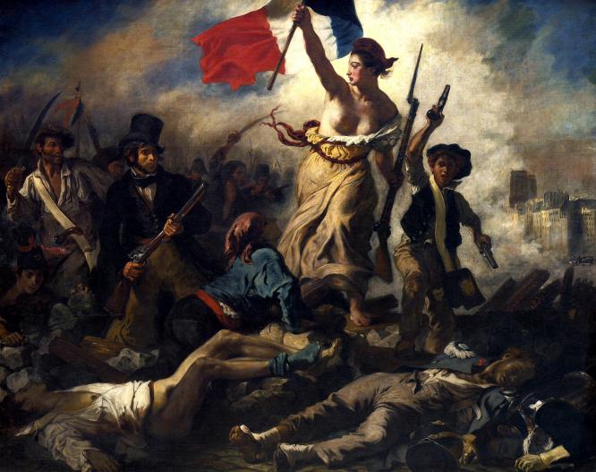 Eugène Delacroix - La liberté guidant le peuple. Image: Eugène Delacroix