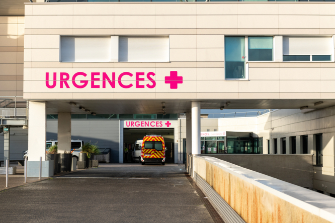 Exterior of a French hospital in Calais