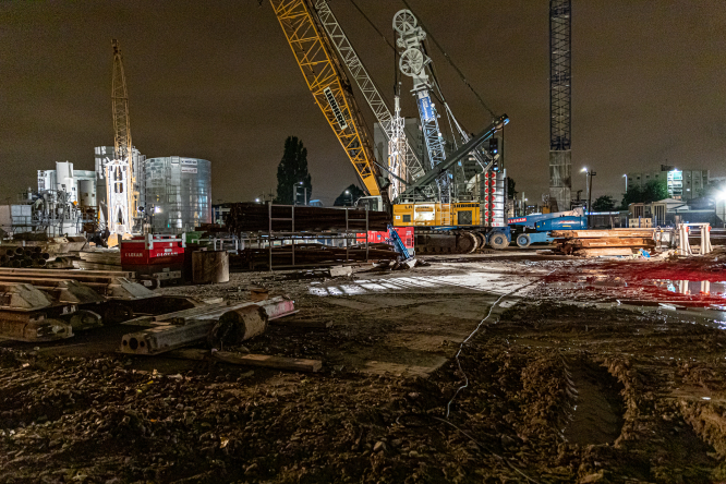 Night railway works