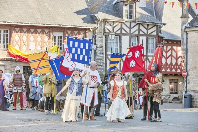 Medieval festival in Josselin, Brittany