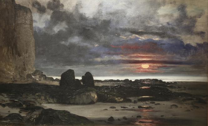 Painting: Karl Daubigny Falaises au soleil couchant. Huile sur toile. Dieppe Chateau-musée, inv. 84.3.1b © Bertrand Legros