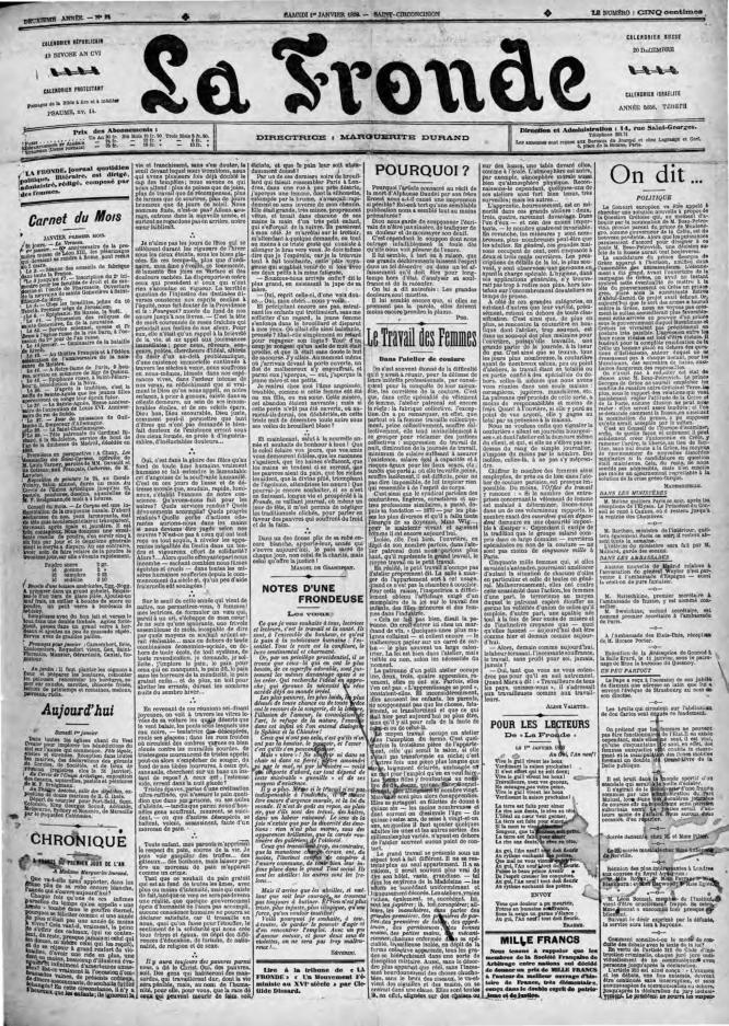 La Fronde newspaper