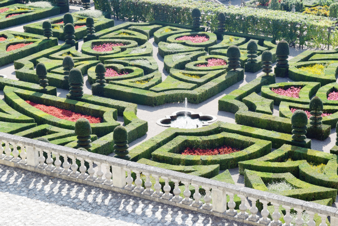 Les jardins d'Amour at Villandry