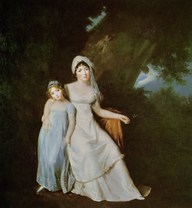 Mme de Staël with her daughter Albertine