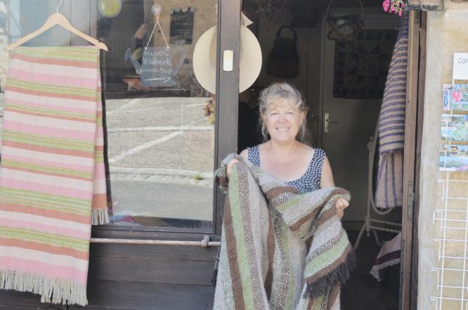 Monique Demazière is a weaver