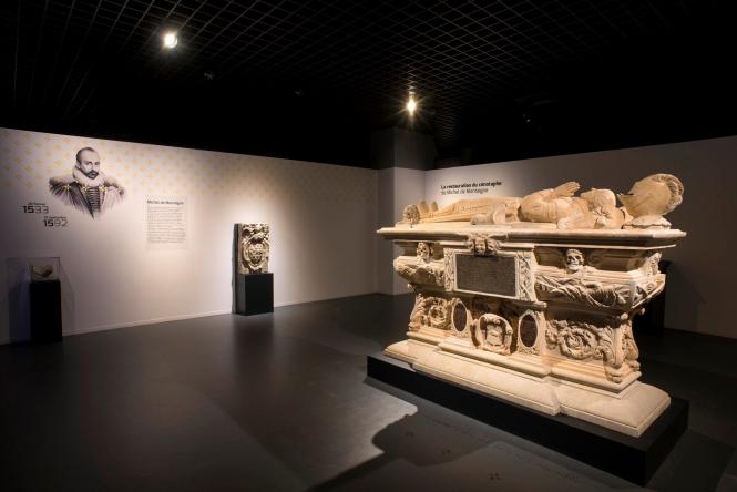 Montaigne tomb in Museum of Aquitaine in Bordeaux