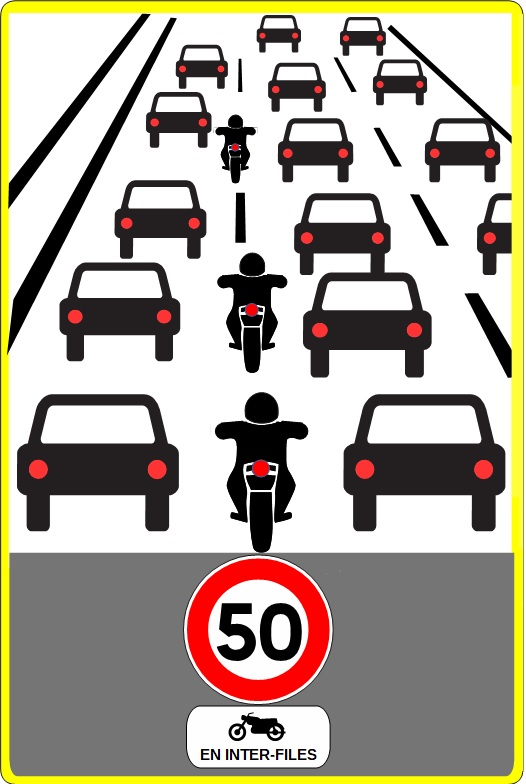 Motorcyclists signs