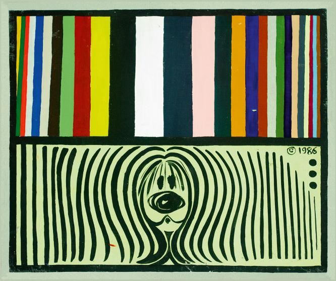 Nina Childress 'Pollux chromatique', 1986