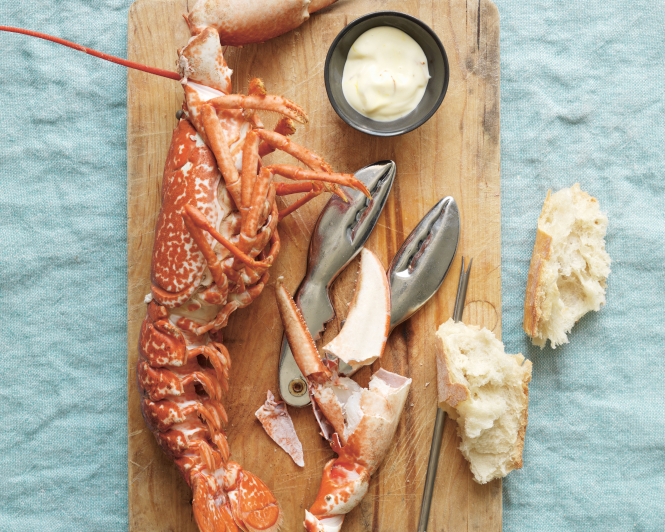Poached Lobster with Lemon Mayonnaise