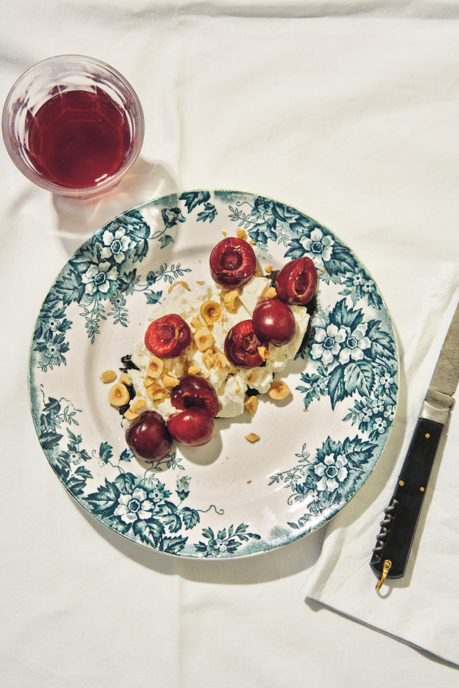 Recipe from the book: Goat's Cheese, Black Garlic and Cherries