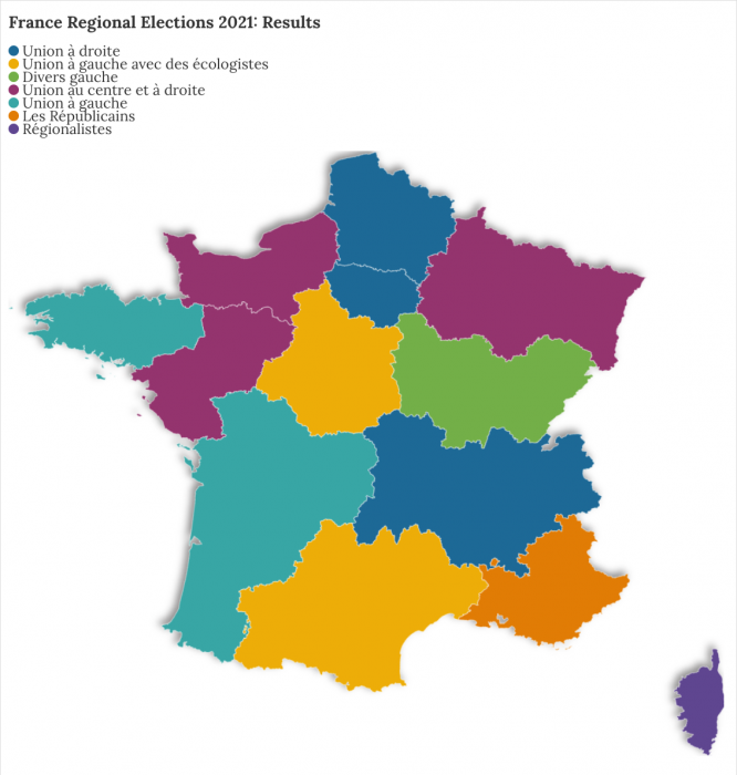 Results of France regional elections 2021