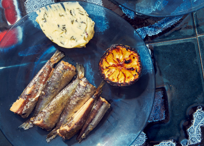 Sardines, butter and burnt lemon - another recipe from the book 'La Buvette, Recipes and Wine Notes from Paris'