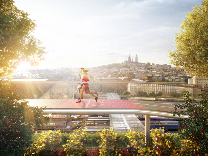 Running on the roof of the station will be  possible once work at Gare du Nord ends in 2023