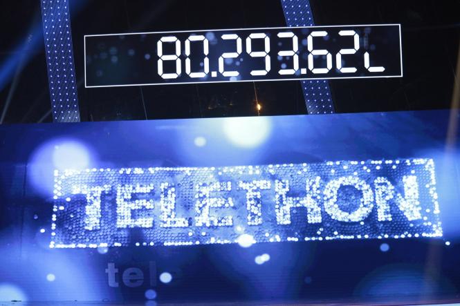 Telethon logo with 2016 total of €80.293million