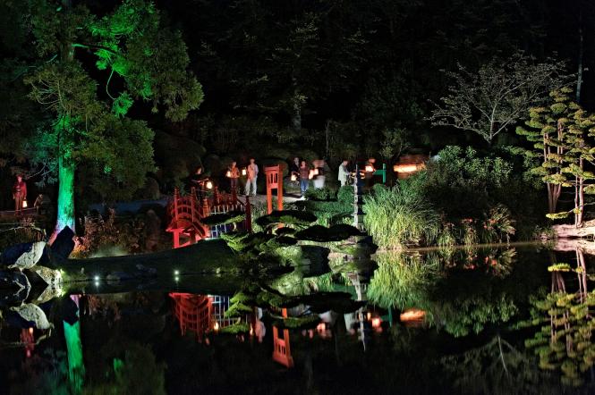 The park is an accurate representation of an Edo garden.