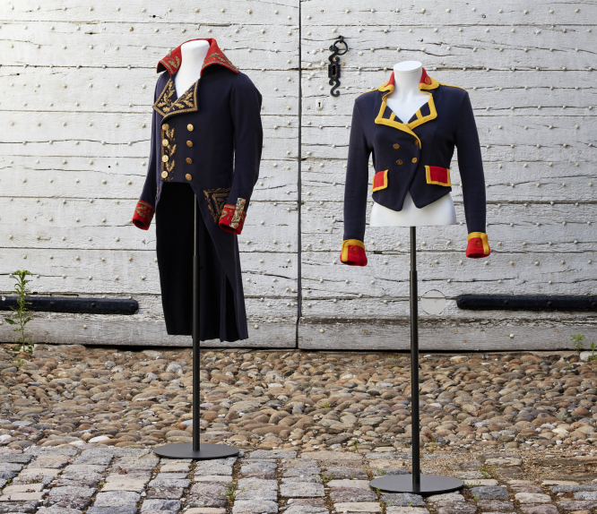Vivienne Westwood Uniforme Collection, Lee Price, on display at Lyon's Musee des Tissus. Photo: Pierre Verrier.