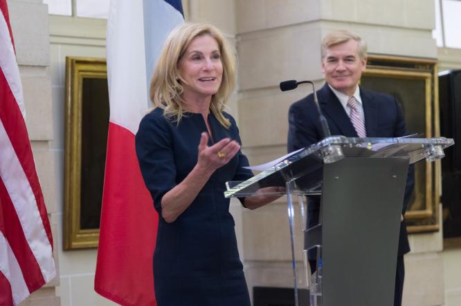 US Ambassador Jamie McCourt and Brent Hardt. US Embassy / Sylvain de Gelder