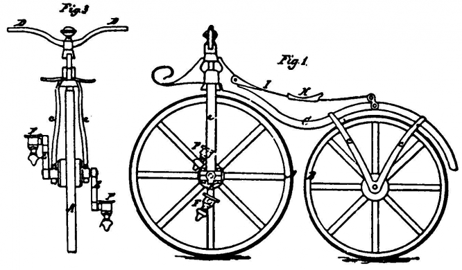 Velocipede Lallement's patented model for US market.