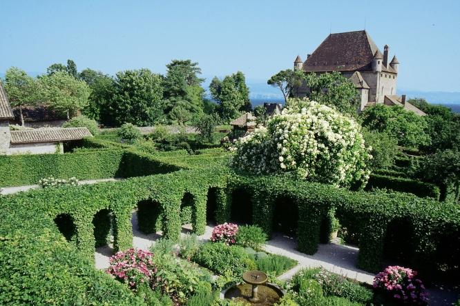 View of the Jardin des Cinq Sens