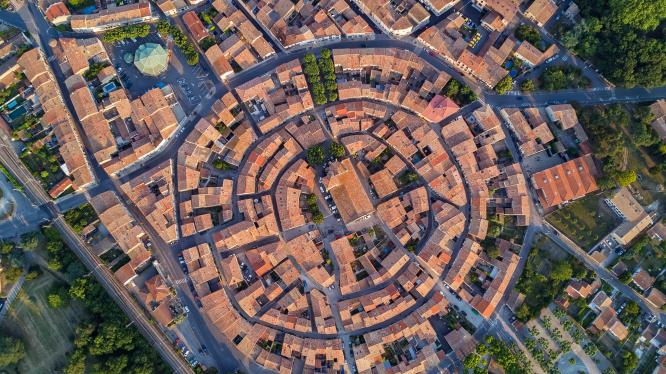 Village of Bram in Aude