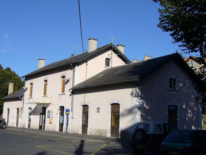 View of the railway station in Mende, Lozere