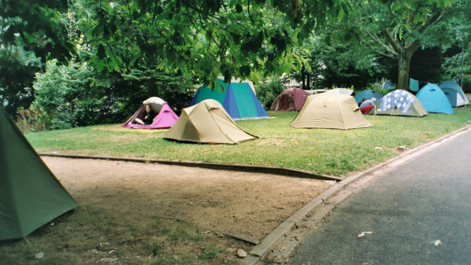 tents at a campsite in France