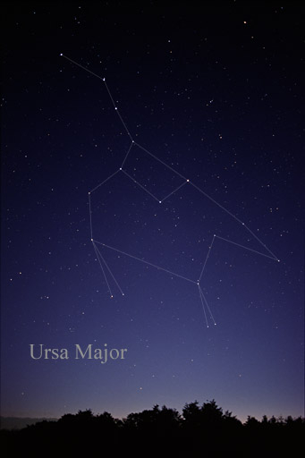 A map of the Ursa Major constellation