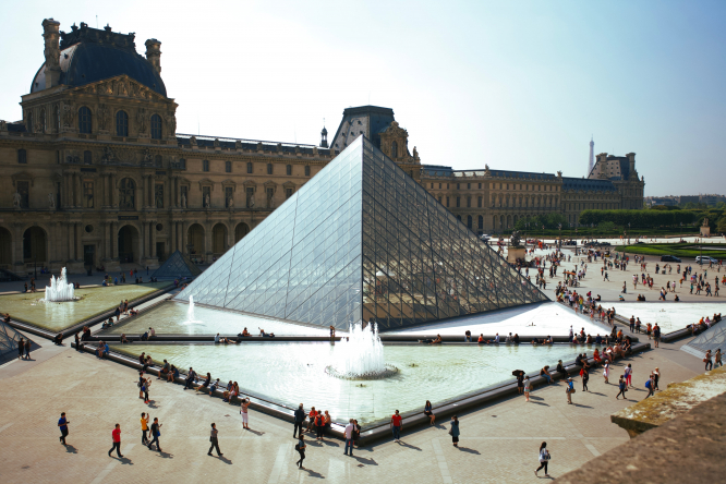With close to 90 million guests a year, France is the most visited tourist destination in the world. Pictured: Louvre Pyramid, Paris, France.