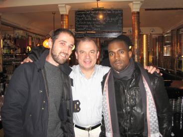 Thomas Bangalter of Daft Punk, Paul Racat, Kanye West