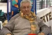 Pensioners stage hunger strike in Avenières, Isère, France