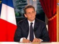 Sarkozy on TF1 - screengrab