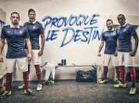 After the final whistle at an ecstatic Stade de France players unveiled the new Nike World Cup strip