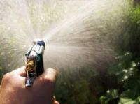 You should use water sparingly if your department is concerned